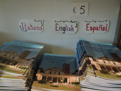 guidebooks  at St. Cecilia